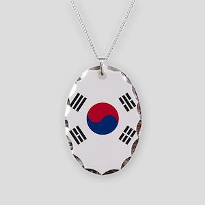 South Korea Necklace Oval Charm