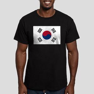 South Korea Men's Fitted T-Shirt (dark)