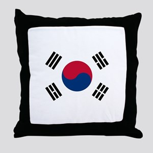 South Korea Throw Pillow