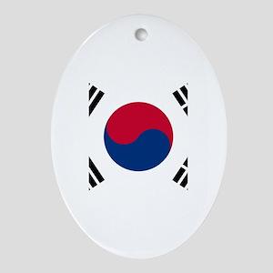 South Korea Ornament (Oval)