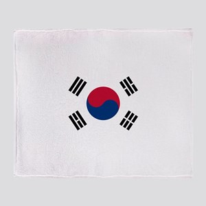 South Korea Throw Blanket