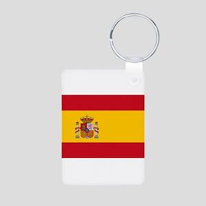 Spain Aluminum Photo Keychain