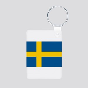 Sweden Aluminum Photo Keychain