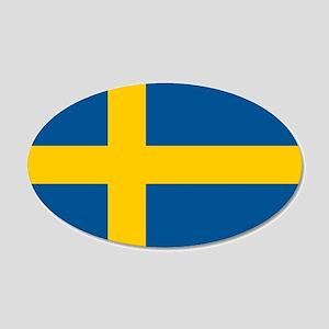 Sweden 22x14 Oval Wall Peel