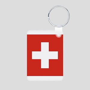 Switzerland Aluminum Photo Keychain