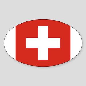 Switzerland Sticker (Oval)