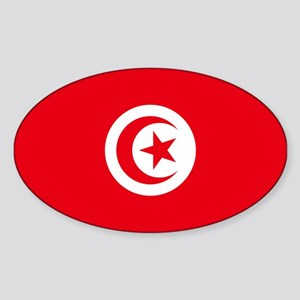 Tunisia Sticker (Oval)