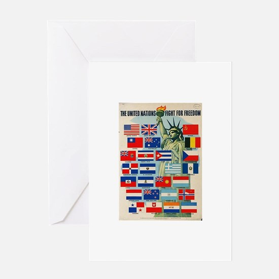 United Nations Fight For Free Greeting Card