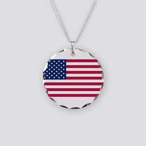 United States of America Necklace Circle Charm