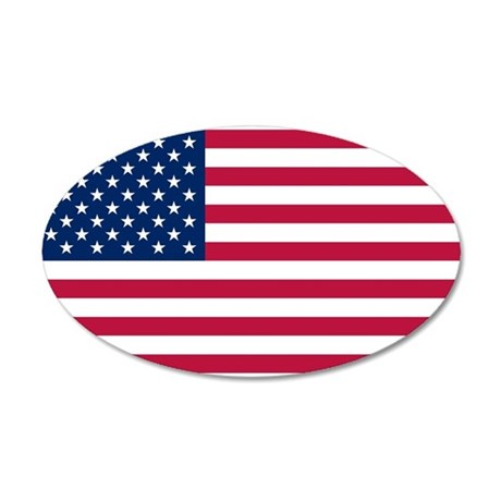 United States of America 22x14 Oval Wall Peel