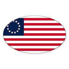 Betsy Ross Sticker (Oval 50 pk)