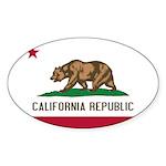 California Sticker (Oval 50 pk)