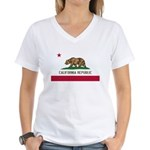 California Women's V-Neck T-Shirt