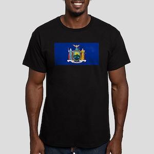 New York Men's Fitted T-Shirt (dark)