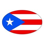 Puerto Rico Sticker (Oval 50 pk)