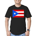 Puerto Rico Men's Fitted T-Shirt (dark)