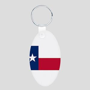 Texas Aluminum Oval Keychain
