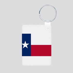 Texas Aluminum Photo Keychain