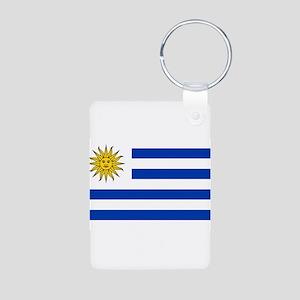 Uruguay Aluminum Photo Keychain