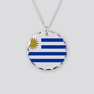 Uruguay Necklace Circle Charm