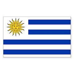 Uruguay Sticker (Rectangle 10 pk)