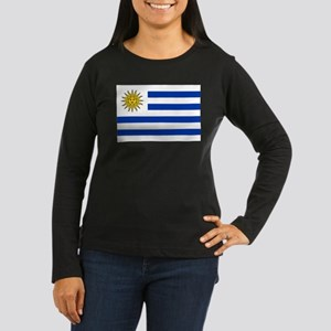 Uruguay Women's Long Sleeve Dark T-Shirt