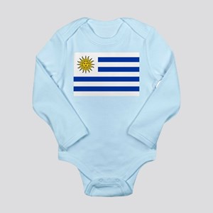 Uruguay Long Sleeve Infant Bodysuit