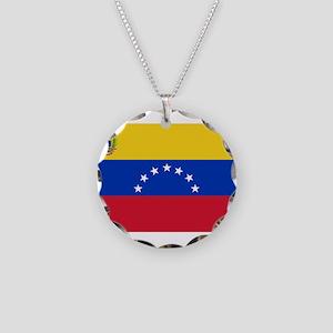 Venezuela Necklace Circle Charm