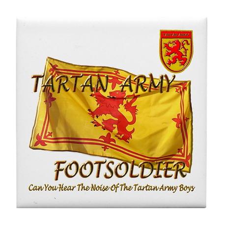 Scottish Tartan Army Footsold Tile Coaster