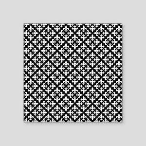 Black and White Fleur de Lis Pattern Sticker