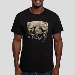 Elk rumble Men's Fitted T-Shirt (dark)