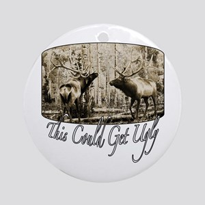 Elk rumble Ornament (Round)