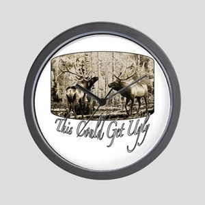 Elk rumble Wall Clock