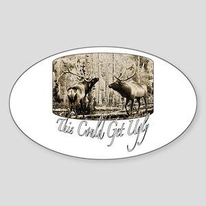 Elk rumble Sticker (Oval)