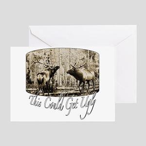 Elk rumble Greeting Card