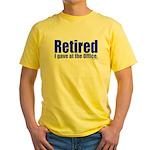 Retirement Yellow T-Shirt