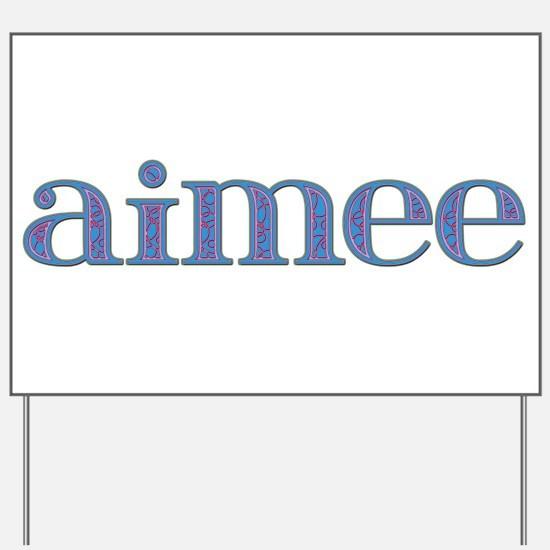 Aimee Blue Glass Yard Sign