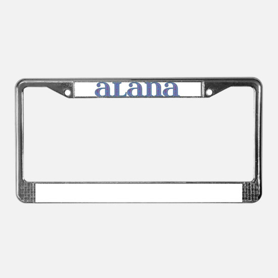 Alana Blue Glass License Plate Frame