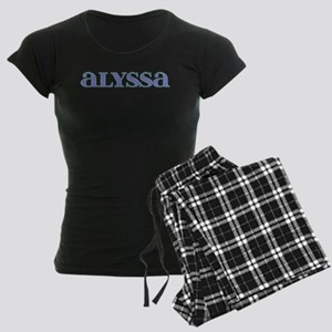 Alyssa Blue Glass Women's Dark Pajamas