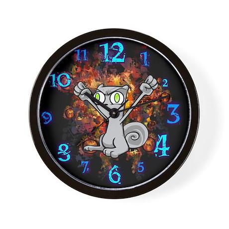 Squirrelly Wrath : Foamy Wall Clock