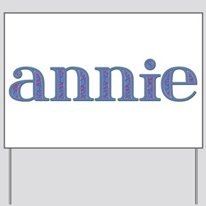 Annie Blue Glass Yard Sign