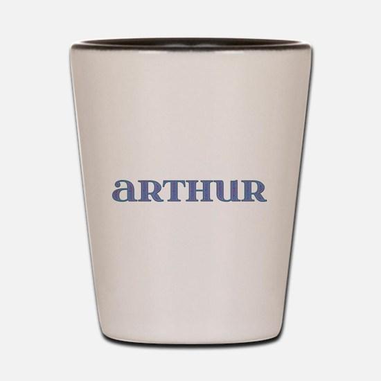 Arthur Blue Glass Shot Glass