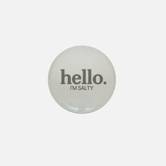 Hello I'm salty Mini Button