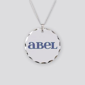 Abel Carved Metal Necklace Circle Charm