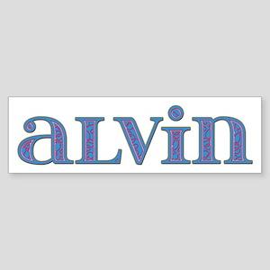 Alvin Carved Metal Bumper Sticker