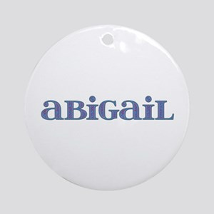 Abigail Carved Metal Round Ornament