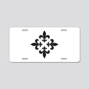 Black and White Fleur de Lis Design Aluminum Licen