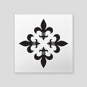 Black and White Fleur de Lis Design Sticker