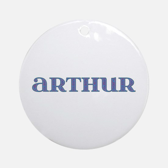 Arthur Carved Metal Round Ornament