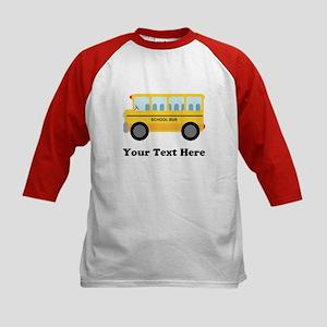 School Bus Personalized Kids Baseball Jersey